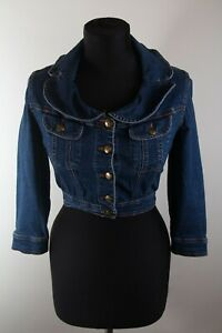 Vintage Moschino Jeans Crop Denim Jacket sz 42 002742