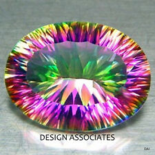 RAINBOW QUARTZ  CONCAVE OVAL CUT 22 X 16 MM