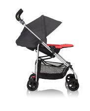 Black Single Baby Stroller Reversible Reclining Lightweight Folding Child Safety