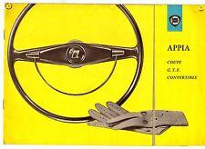 Lancia Appia Series 3 Coupe GTE Convertible 1959-62 UK Market Sales Brochure