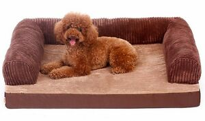 Corduroy Anti-slip Washable Dog Puppy Cat Sofa Bed