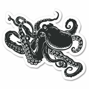 Octopus Black Car Vinyl Sticker - SELECT SIZE
