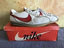 Vintage 1970s NIKE CORTEZ Size 9 Leather Made in USA With ORIGINAL BOX