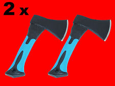 2 x Holz Axt Holzbeil 500 Gr. Forst Beil Holzfäller Handaxt Fiberglas Kurz XT068