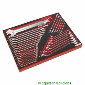 Sealey TBTP03 Tool Chest Tray Spanner Wrench Torx Offset Combination 35 Pc Set