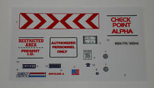 GI Joe Check Point Alpha Sticker Decal Sheet