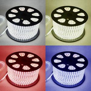 LED Strip 220V 240V IP67 Waterproof 3528 Commercial Lights Rope White,Blue,Pink
