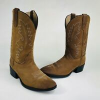 Dan Post Shane Youth Boys Size 4.5 Brown Leather Western Cowboy Boots DPC-3003