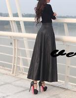 Gonna Lunga Donna Simi Pelle - Woman Maxi Skirt PU Leather  -  130016
