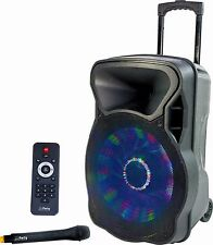 Portable Sound PA System 800w With Radio Mic, Bluetooth, SD, LED, 15""