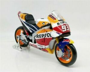 Maisto 1:18 Marc Marquez Repsol Honda Toy model Motorcycle motorbike red orange