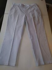 Brooks Brothers 100% Cotton Navy/White Striped Pants 36/28 Excellent Condition!