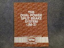 Chevrolet Pro Tech Truck The Dual Power Split Brake System JM-2 Manual Book M172