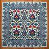 Iznik Design Turkish Tile Panel Set,16 piece Wall Feature - Splashback - Combo 9