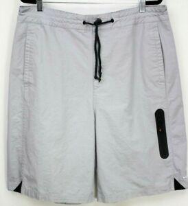 Nike Air Mens Basketball Shorts XL Woven Cotton Rip Stop 646264 012 Wolf Gray