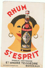 ancien buvard publicitaire rhum saint Esprit Teissèdre Bordeaux