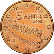 [#582240] Griekenland, 5 Euro Cent, 2002, ZF, Copper Plated Steel, KM:183