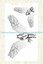 US SELLER, fake tattoo in sexy angel wing horse temporary tattoo