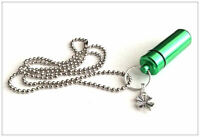Cremation Jewellery Ashes Urn - Emerald Isle Urn Keepsake Memorial Necklace