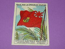CHROMO A AUSTR ANGLAISE N°158 DRAPEAU CHOCOLAT PUPIER AFRIQUE 1938-1950