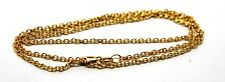 9CT YELLOW GOLD BELCHER CHAIN NECKLACE 50cm 4.19grams EXPRESS POST IN OZ