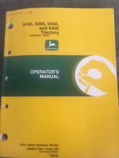 John Deere 9100 9200 9300 9400 Tractor Operator Manual Omar172611 Issue B0