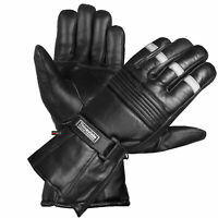 -20 ℉ Winter Men Premium Sheep Leather Motorcycle Thinsulate Gauntlet Gloves