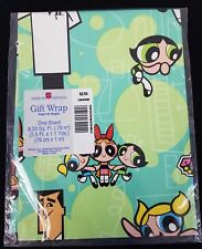 Vintage American Greetings Gift Wrap Powerpuff Girls 1 Sheet 8.33 Sq. Ft.
