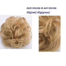 Women Girl Classic Wedding Chignon Braid Buns Hair Pieces Extensions Brown ss7e