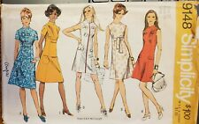 Vtg Simplicity pattern 9148 Misses' Dress in two lengths size 12 bust 34