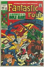 Fantastic Four #89 Marvel (1969) Silver Age Comic Book FN+/VF- (Vs. Mole Man)