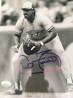 CECIL FIELDER SIGNED 8x10 NY YANKEES JSA PHOTO BLUE JAYS TIGERS AUTOGRAPHED AUTO