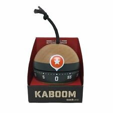 Suck UK Kaboom Kitchen Timer Stop Alarm Wood 60 Minute Mechanical Wind Up Gift