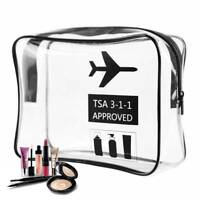 Cosmetic PVC Organiser Makeup Toiletry Clear Travel Wash Bag Pro Clear Portable