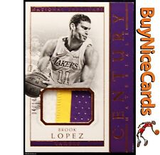 2017-18 Brook Lopez Panini National Treasures Century Materials Gold Patch /10