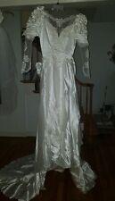 70s Wedding Dress Small with veil