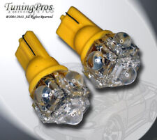 (1 Pair) Set of 2 pcs Parking Light T10 5 Flux Amber LED Light Bulbs 168 168NA