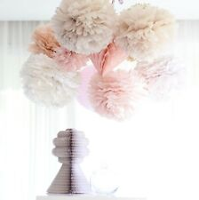 Set of 120 tissue paper pompoms -3 sizes - wedding party decorations-multi color