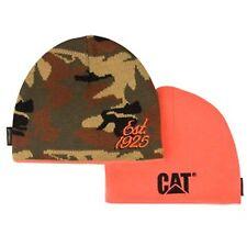 Caterpillar Reversible Camo and Orange Beanie / Hat / Cap w/ est 1925 & CAT Logo