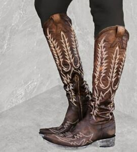 """L1213-4 Old Gringo Women's Mayra Bis 18"""" Brass Leather Boots"""