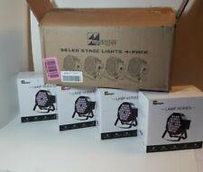 Missyee 36 LED Stage Lights 4-Pack, Remote Control, 9 Modes, Black
