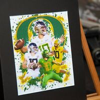 Justin Herbert #10 - Oregon Ducks - Unique Artwork - 3D Effect - Handmade
