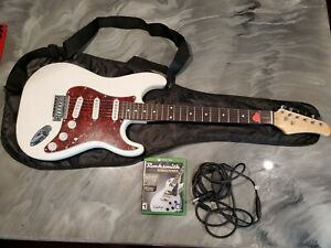 Electric Guitar and soft case with Rock Smith for xbox one
