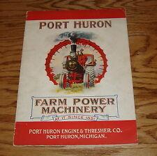 Original 1920 1921 Port Huron Farm Power Machinery Sales Catalogue Brochure #69