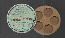 Tithing Dollar (Dime Holder), Christian Finance Assn., New York, Bible School