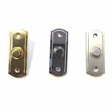 Polished Brass/Chrome/Satin Sloane Door Bell Chime Push Button Press-31mm x 80mm