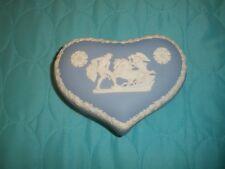 Wedgwood Blue Jasper 2 Piece Heart Trinket Box Roman Solider Gods