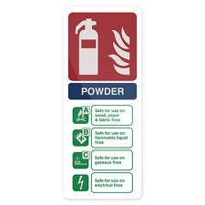 Secco polvere ESTINTORE SEGNALE 202 x 82 mm AUTOADESIVA segnaletica segnaletica di sicurezza