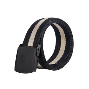 "1.25"" Men's Black Tactical Heavy Duty Elastic Military Belt Plastic Cam Buckle"