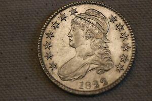 1822 CAPPED BUST HALF DOLLAR AU+++